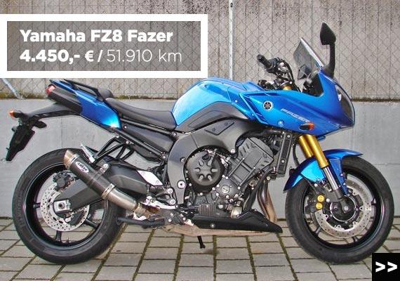 Yamaha FZ8 Fazer Gebrauchtmotorrad-Angebot im Motorradzentrum Freiburg