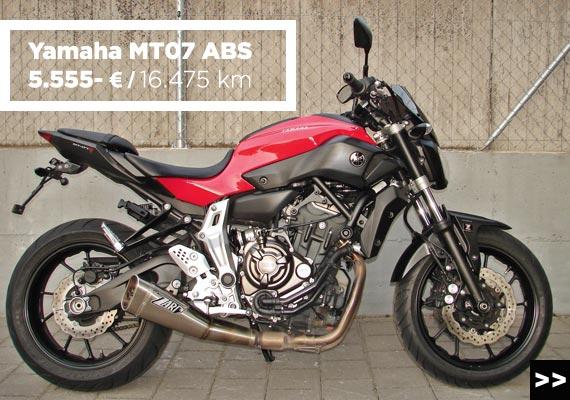 Yamaha MT07 ABS Gebrauchtangebot im MOZ Freiburg
